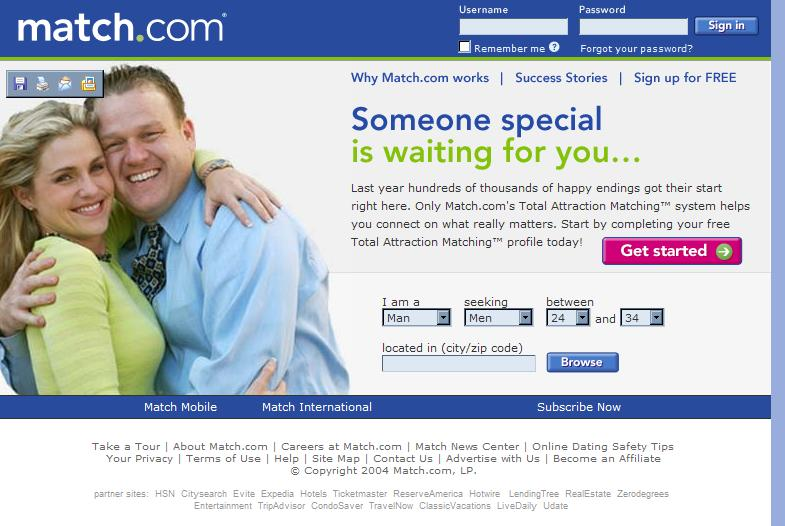 Online dating web site