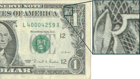 100 dollar bill with star