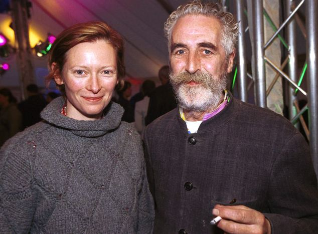 Tilda Swinton, actress, and husband John Byrne