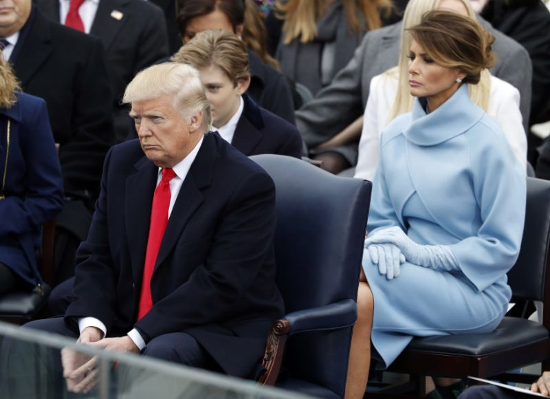 most-awkward-moments from Trump's inauguration day-19